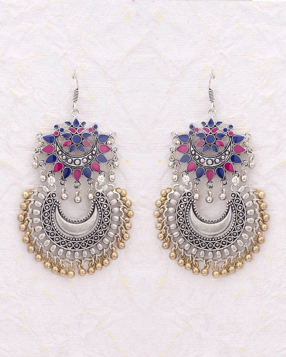 Buy Chandbali Earrings with Beautiful Enameling Online India | Voylla