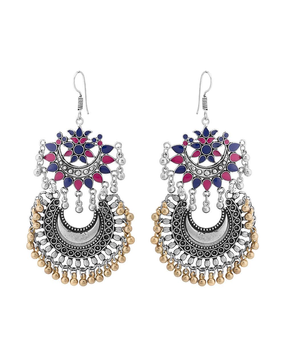 Buy Chandbali Earrings with Beautiful Enameling Online India | Voylla
