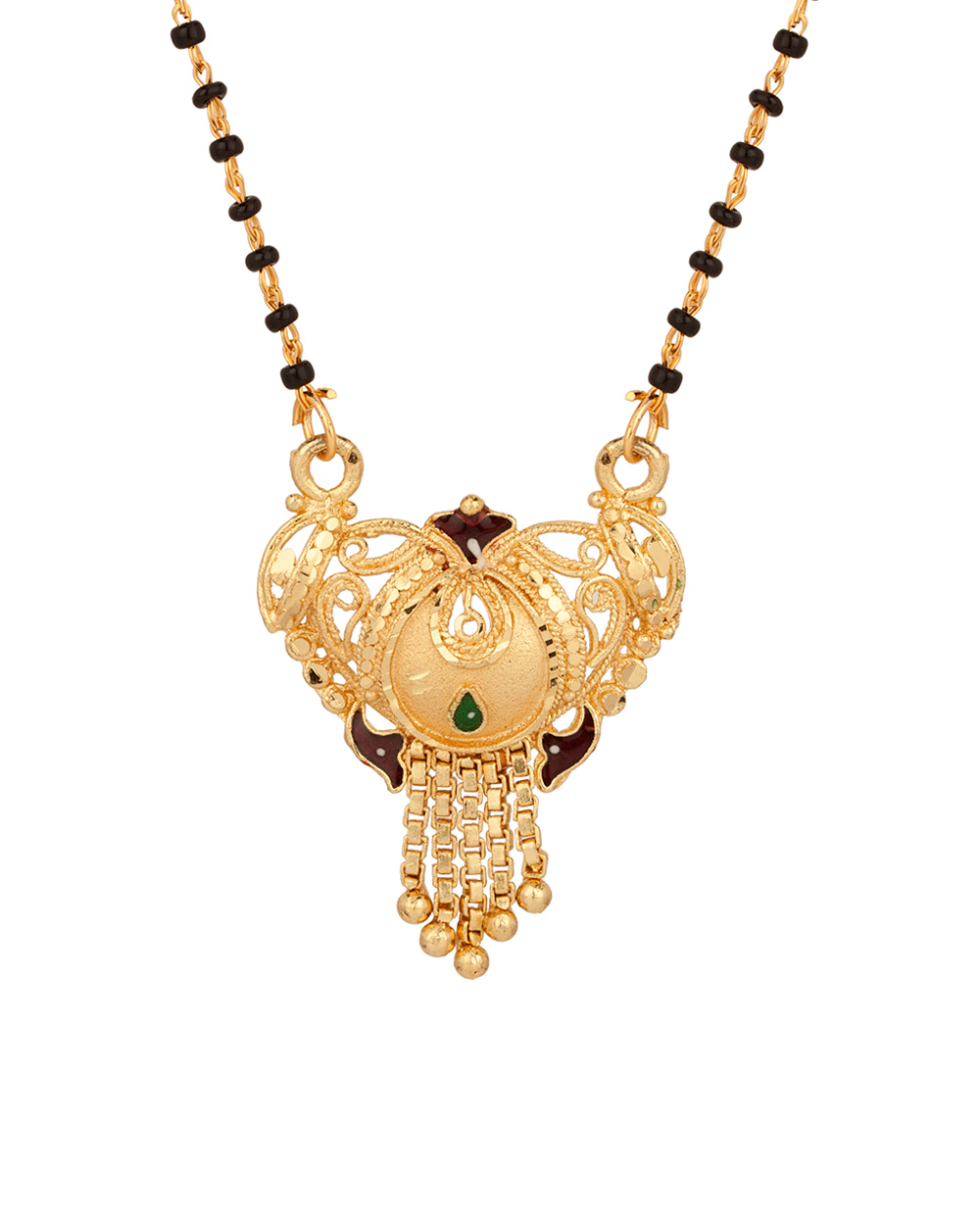 Buy Single Chain Mangalsutra with Fancy Design; Gold Tone Online ...