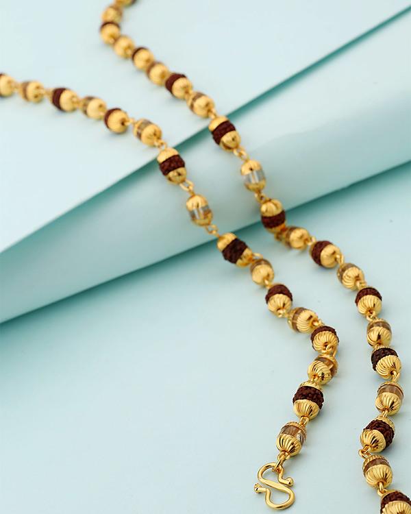 5d43be3bb43e0 Gold Plated Faux Rudraksha Chain