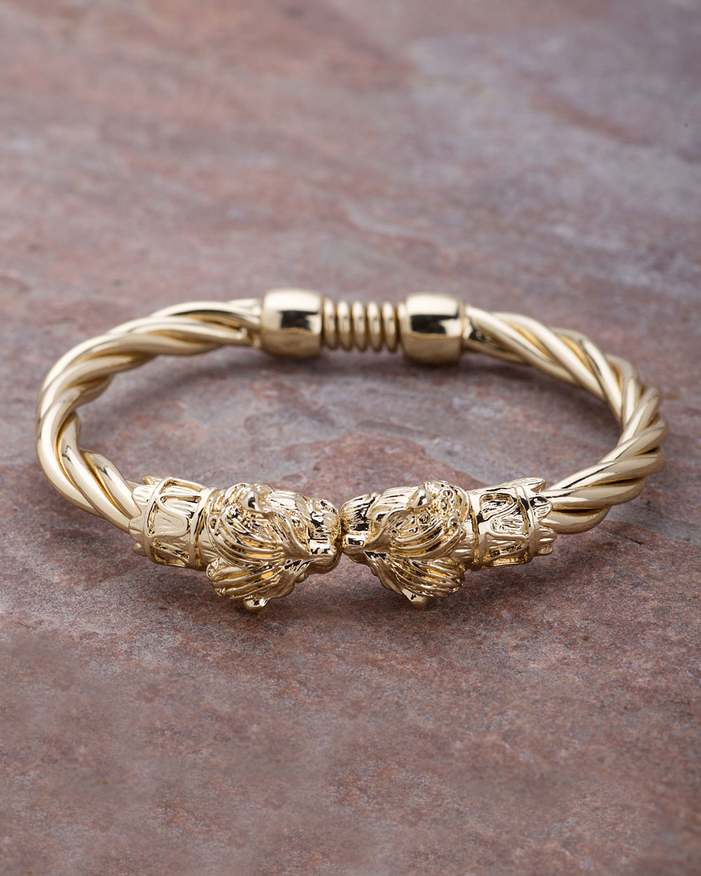 Buy Men\'s Stainless Steel Lion Head Twisted Bracelet From Dare by ...