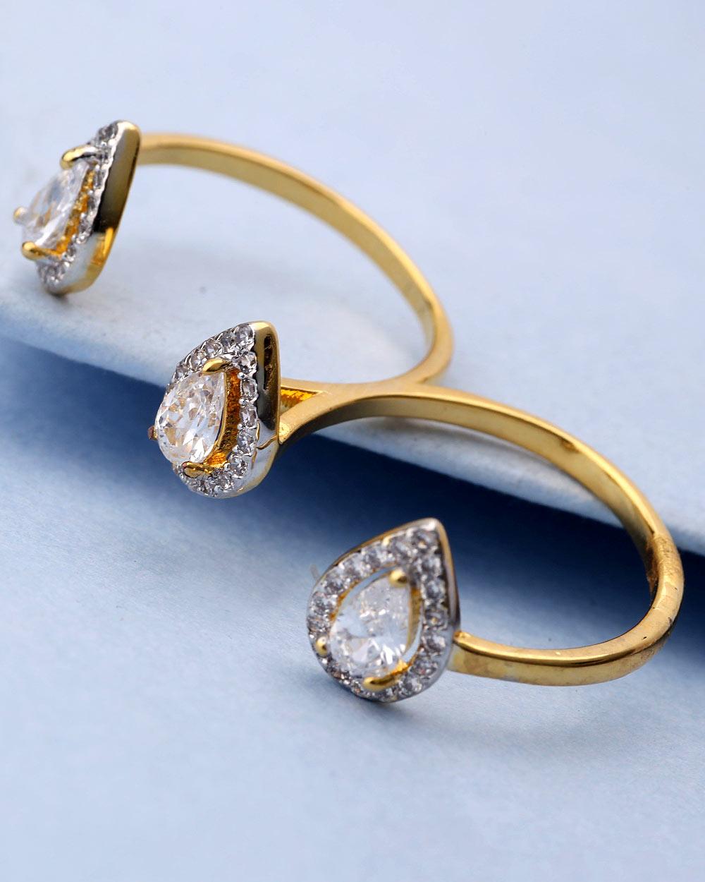 Buy Double Finger Ring Design For Women Online India | Voylla