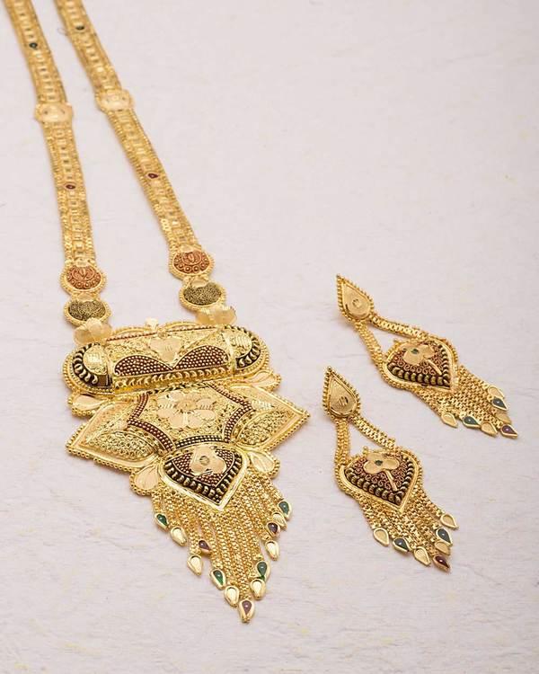 23aa4ad45643 Buy Designer Necklace Sets Rani Haar Gold Plated Necklace Set Online