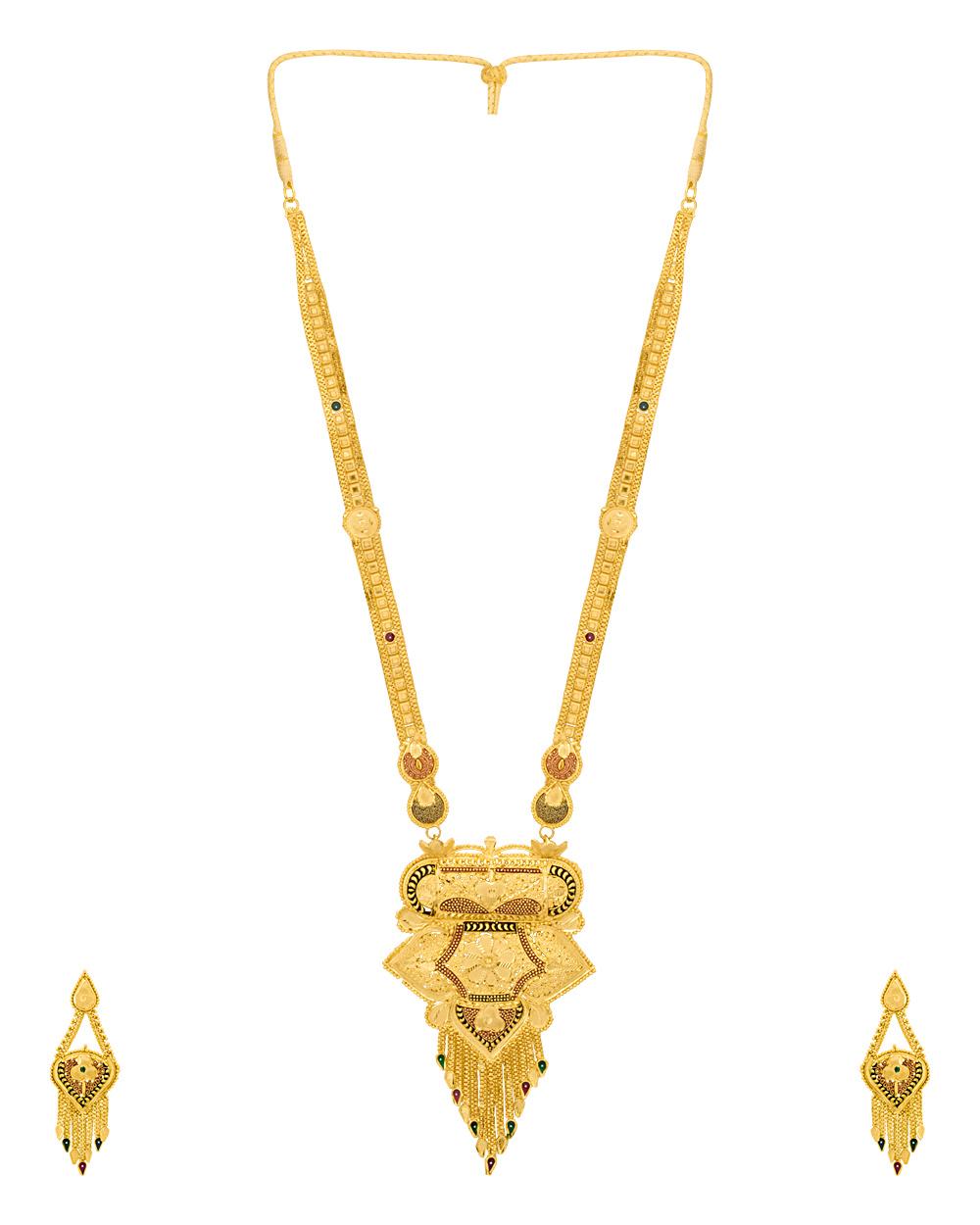 Buy Rani Haar Gold Plated Necklace Set Online India | Voylla