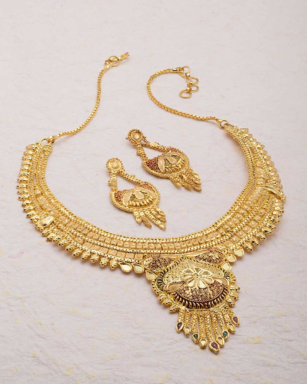 Great Gold Bengali Design Long Necklace Gallery - Jewelry ...