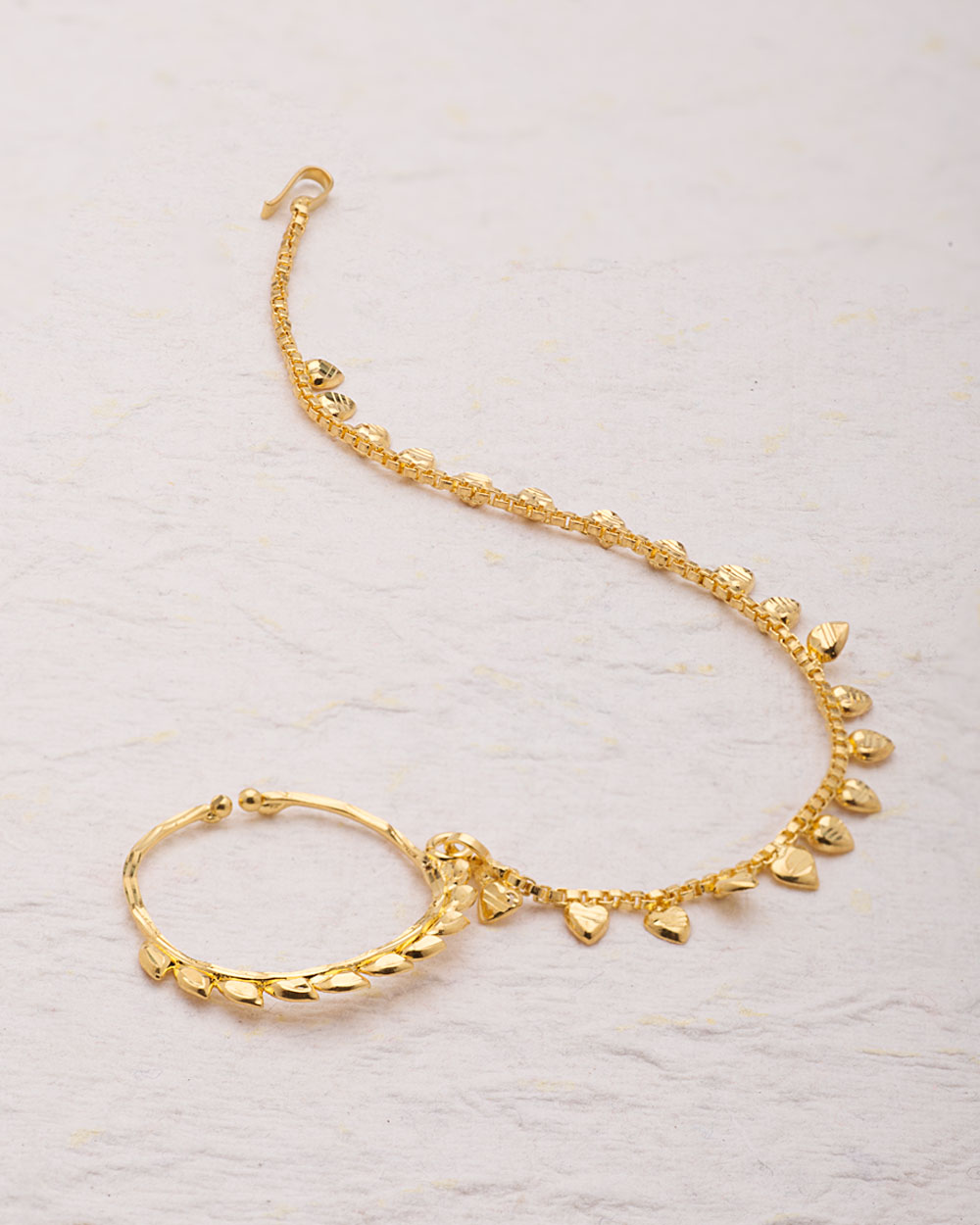 Buy Traditional Gold Plated Nose Ring Online India | Voylla
