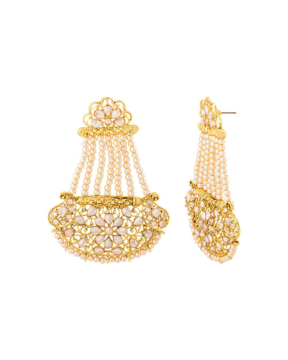 Buy Classic Pasa Style Gold Plated Dangler Earrings Online India ...