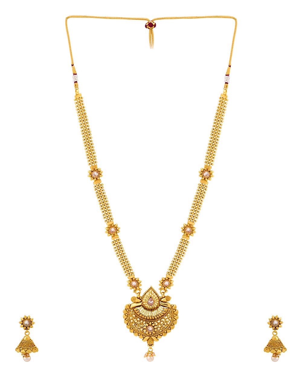 Buy Ethnic Sanskriti Rani Haar Necklace Set Online India | Voylla