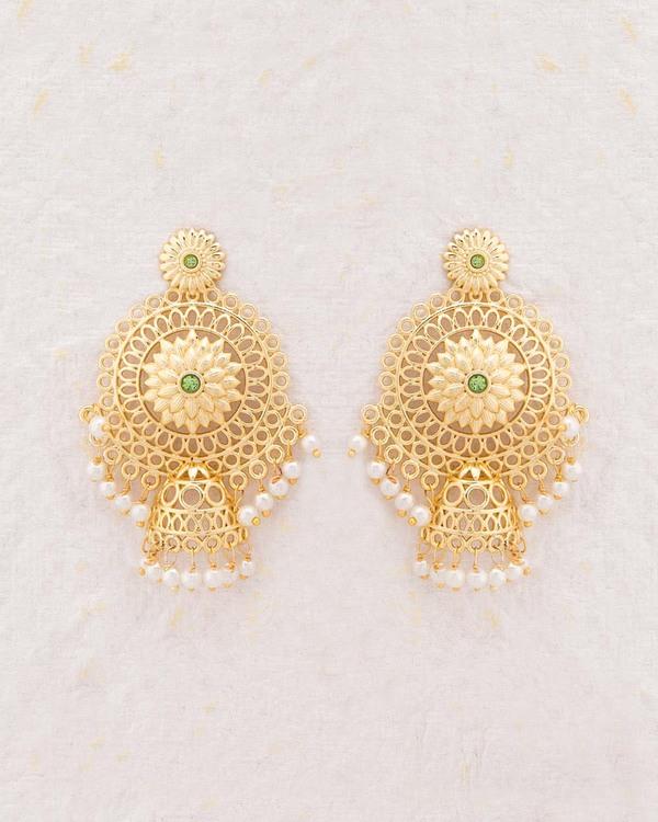 Designer Earrings Gorgeous Kairi Gold Plated Online Voylla