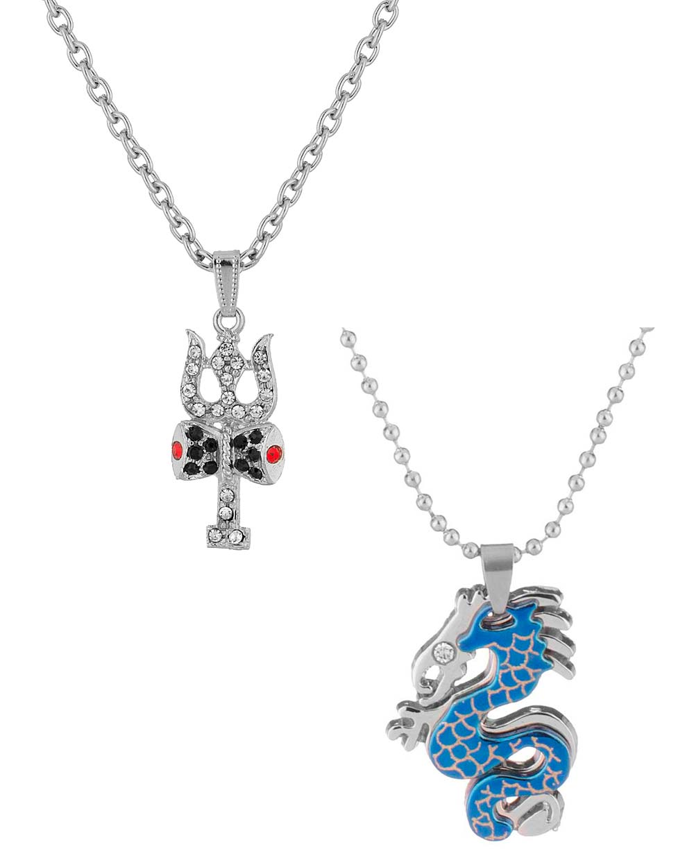 Buy silver plated pendants combo for men online india voylla silver plated pendants combo for men aloadofball Image collections