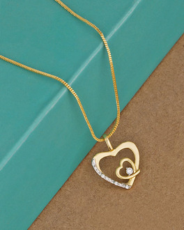 Buy cz pendants silver gold plated pearl solitaire pendant for cz studded heart motif pendant aloadofball Gallery