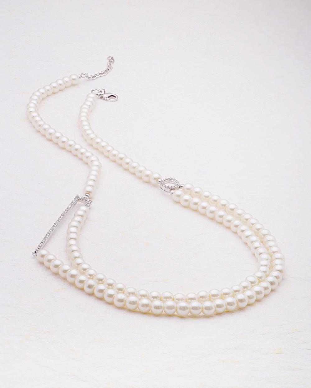 Buy cz embellished side pendant pearl necklace from pearl galleria cz embellished side pendant pearl necklace from pearl galleria mozeypictures Choice Image