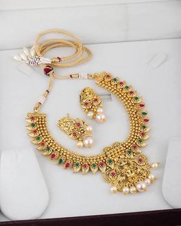 322b285dff89e Rani Haar Gold Plated Necklace Set | VOYLLA Fashions