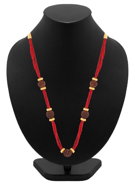 Rudraksha Beads Red Thread Mahadev Chain