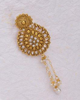 White Gems Studded Ethnic Saree Pin | VOYLLA Fashions
