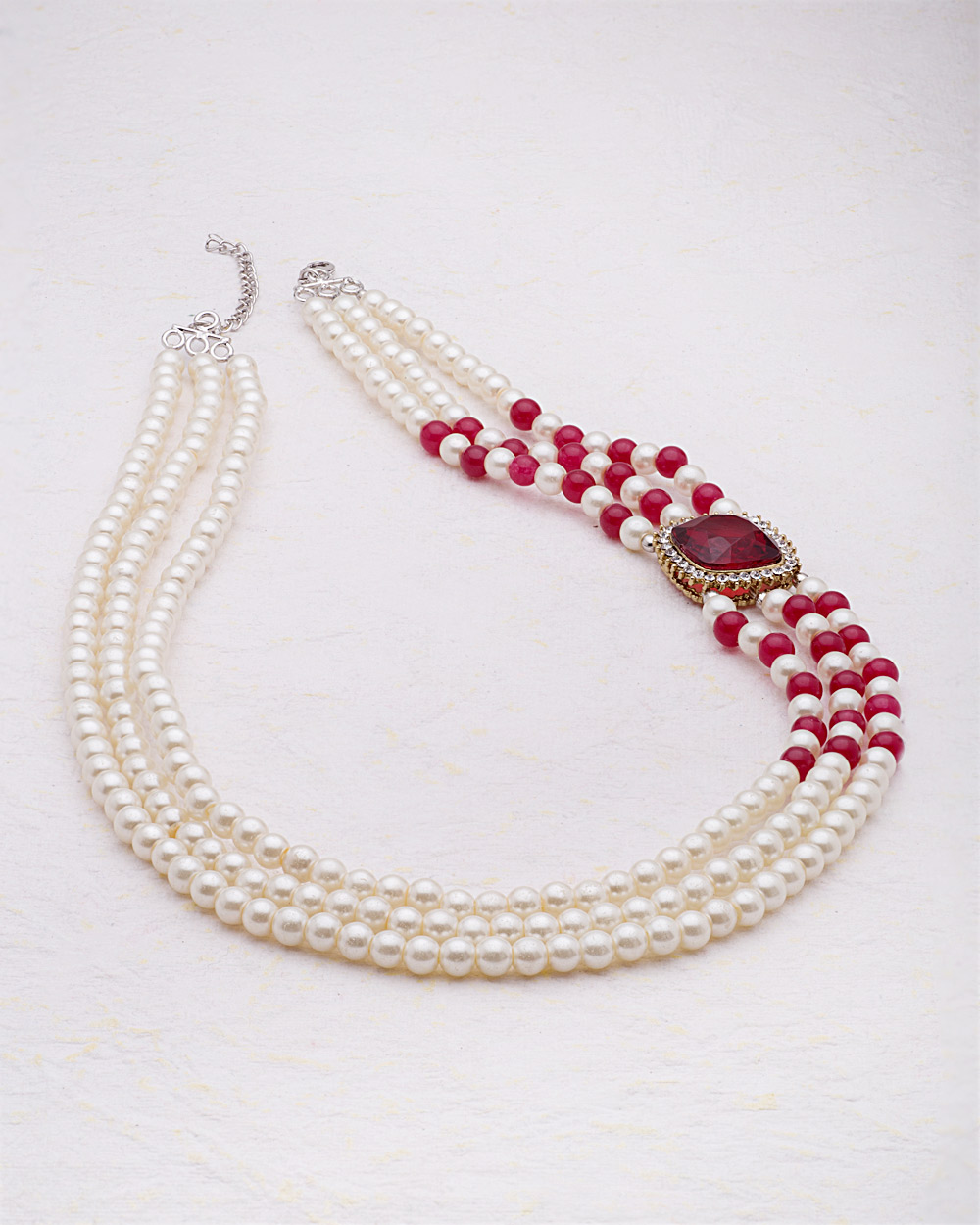 Buy side pendant pearl necklace from pearl galleria online india product dimension mozeypictures Choice Image