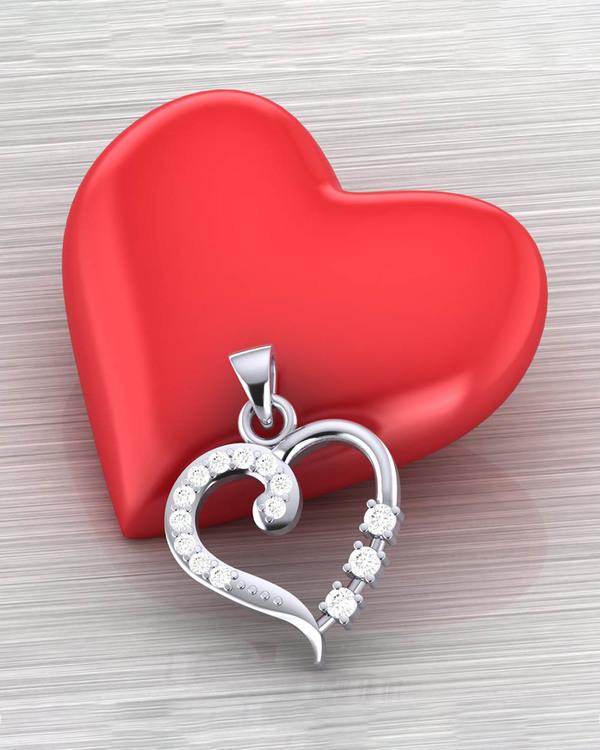 Buy Designer Pendants Heart De...