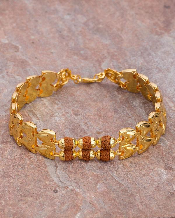 Designer Mens Bracelets Gold Plated Men S Bracelet With Rudraksha Online Voylla