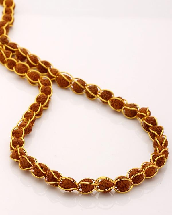 b91901cbbd259 Rudraksha Studded Chain In Gold Toned