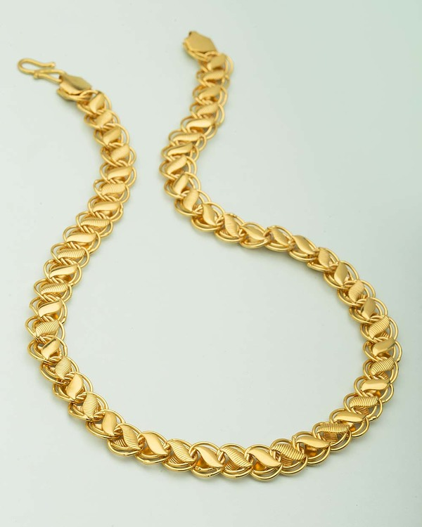 f21db408475b9 Wheat Designer Chain For Men In Yellow Gold