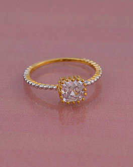 baaf78d2d6251 Floral Design Ring For Women Studded With Green Stone & CZ | VOYLLA ...
