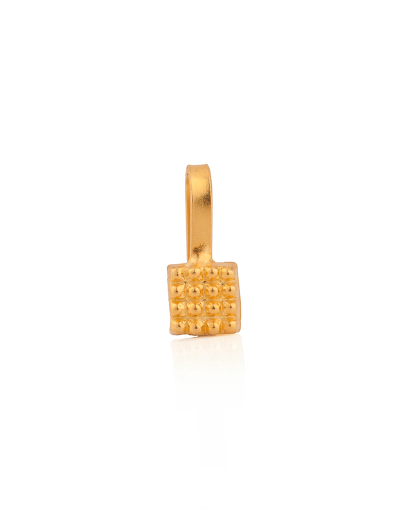 d7f28496b00f8 Gold Plated Geometric Style Nose Pin