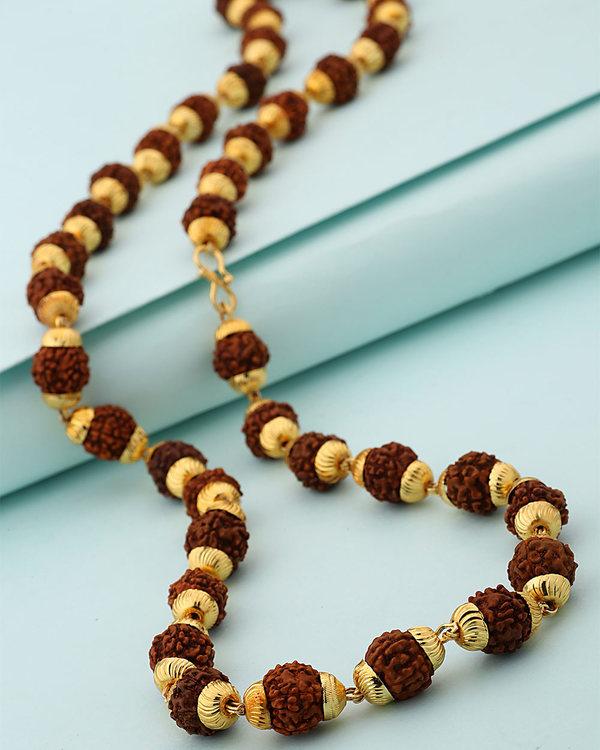 271cf8b69b922 39 Rudraksha Beads Studded Chain For Men