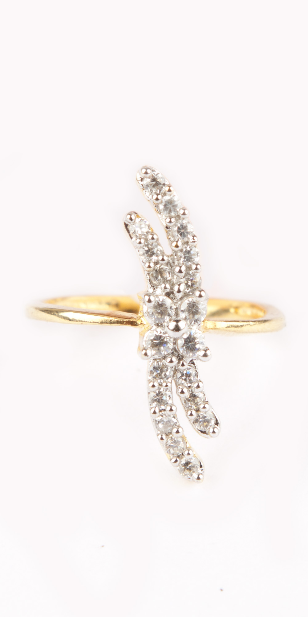 Buy Simple Gold Plated American Diamond Ring Online India   Voylla