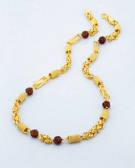 d22c0c845a561 39 Rudraksha Beads Studded Chain For Men | VOYLLA Fashions