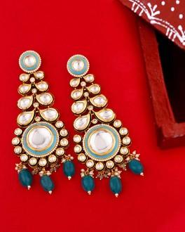 KUNDAN EARRINGS Meena Kundan Designer Bridal Wedding Kundan Earrings Jewellery set For Women ethic Jewelry Kundan Ethic Earrings