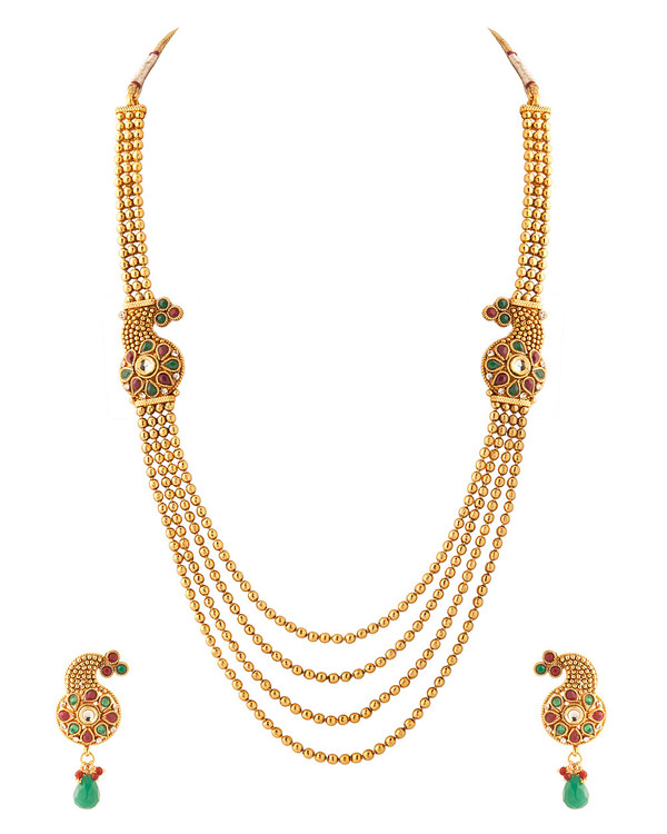 colorful set products fashion sale elegant khushrang necklace gold indian collections