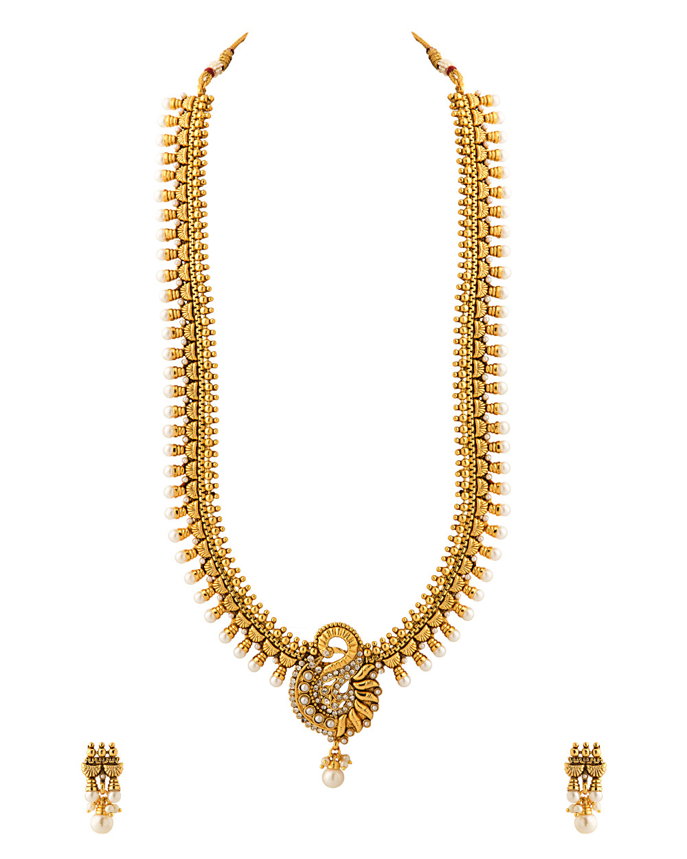 Buy Gold Plated Bridal Jewellery Set Embellished With CZ And ...