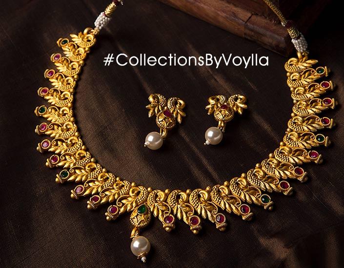 Indian Artificial Jewellery Bridal Oxidised Kundan Pearl